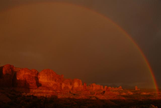 Rainbow at Arches National Park