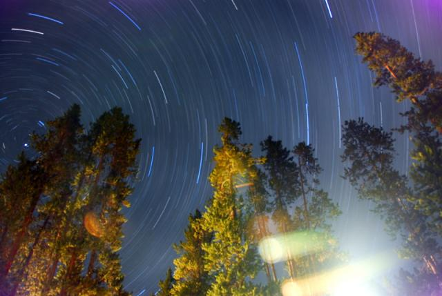 Stars over Madison Campground, Yellowstone National Park
